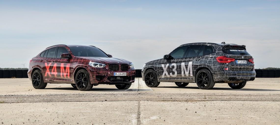 Прогревочный круг: первая официальная презентация BMW X3 M и BMW X4 M на Нюрбургринге.